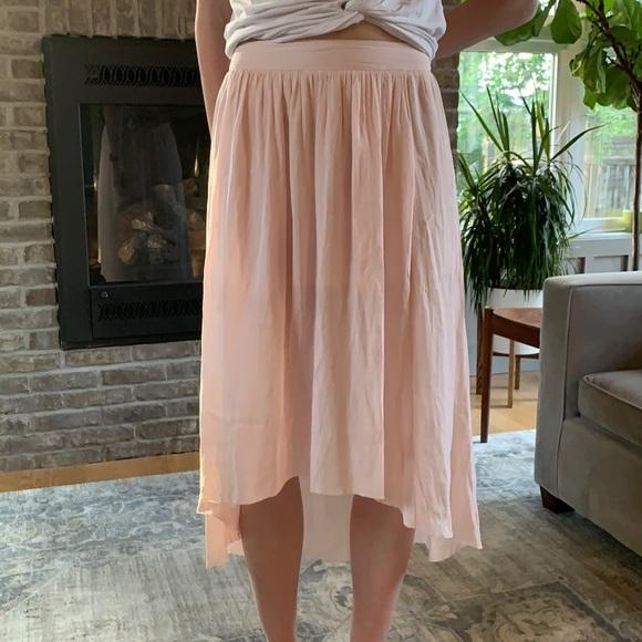 Light pink high low skirt